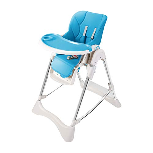 OUG High Chair Portable Baby Chair, Green Plastic Material, Safety Seat, Non-Slip Mat, Easy to Fold, Suitable for 6 Months to 4 Years Old (Green Powder Blue)