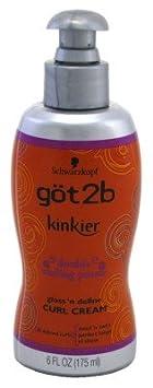 Got2b Kinkier Curl Cream, 6.0 Ounce