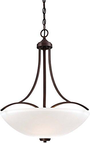 Minka Lavery Pendant Chandelier Ceiling Lighting 4964-284, Overland Park Large, 3 Light, Vintage Bronze