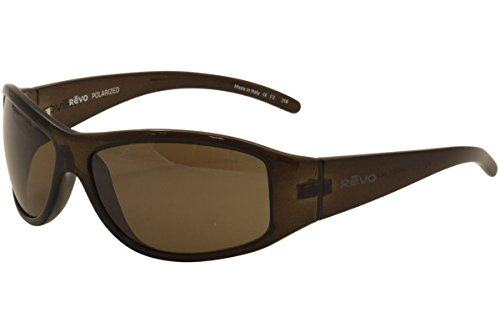 Revo Sunglasses Revo Re 5014 Tander Polarized Wraparound Sunglasses Wrap, Brown Horn Terra, 64 mm