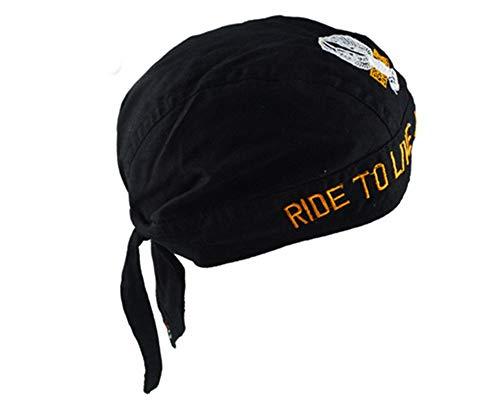 Wild Riding Headscarf hat, Cotton Turban Cap, Printed Pirate hat, 010 ()