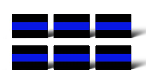 (Thin Blue Line Police Mini Sticker Pack Car Truck License Tag Support Law Enforcement Officers)