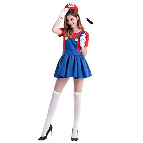 Pardobed Super Mario Women's Costume Halloween Cosplay Costume