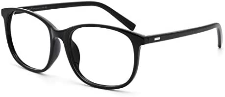 Cyxus Blue Light Filter Computer Glasses for Blocking UV Headache [Anti Eye Fatigue] Transparent Lens Black Frame, Unisex...