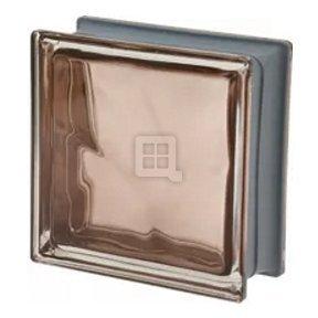 Quality Glass Block 7.5 x 7.5 x 3 Pegasus Metalized Q19 Tortora Wave Glass Block