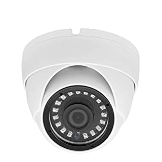 Inwerang Super Hybrid 5MP 4MP 1080P HD-TVI/CVI/AHD/960H CCTV Surveillance Security Camera 3.6mm Fixed Lens Outdoor/Indoor 49ft IR Waterproof Day&Night Vision Metal Dome Video System