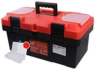 CHUNSHENN ツールボックス 工具箱 以下のために適した家庭用屋外修復ツールストレージボックス、二層レッド厚手PP多機能ツールボックス19インチ(カラー:レッド、サイズ:44.5 * 24 * 19.5センチメートル)