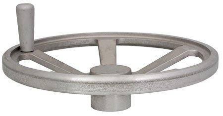 18.00'' Dia. X 4.88'', 3 15/16'' Lg. Handle, 2 Spoke, 319 Aluminum, Hand Wheel (1 Each) by RSC