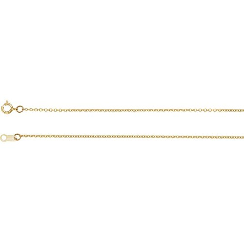 Jewels By Lux 18K Yellow Gold 1mm Solid Cable 20