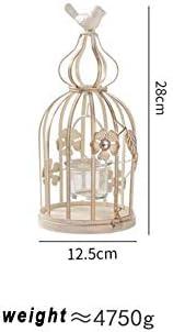 ヨーロピアンスタイルの鳥かごレトロアイアンアート燭台キャンドルデコレーションクリエイティブホームキャンドルライトディナープロップハロウィンクリスマスの飾り (Size : 28*12.5cm)