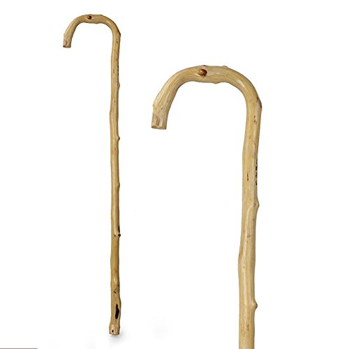 Natural Rattan Elderly Crutches, Disabled People Assisted Travel (Medallion Natural Wood)