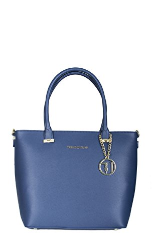 Borsa shopper Trussardi Jeans levanto blu Primavera Estate 2017 - 75B487XX, Blu, UNI
