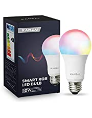 Kamzai Smart WiFi Light Bulb A60 E27 10W RGB+2700-6000K Remote Control Color Changing Led Lights Bulbs compatible with Alexa, Google Home and IFTTT 110V/230V