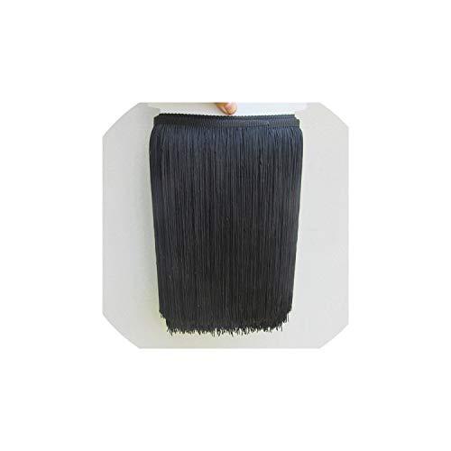 (Tassels 10 Yard/Lot 30Cm Long Polyester Lace Fringe Trim for Sew Latin Dress Garment Accessories,10Yards,Black)