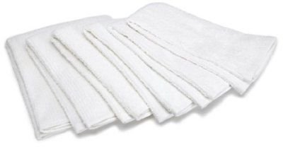 3 Dozen New 16x19 White 5.5lb Box Industrial Wiping Rags Bar Mops Terry Towels By OMNI LINENS by Omni Linens