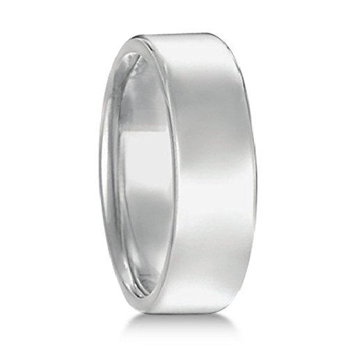 - Euro Dome Comfort Fit Wedding Ring Men's Band in Palladium (7mm)