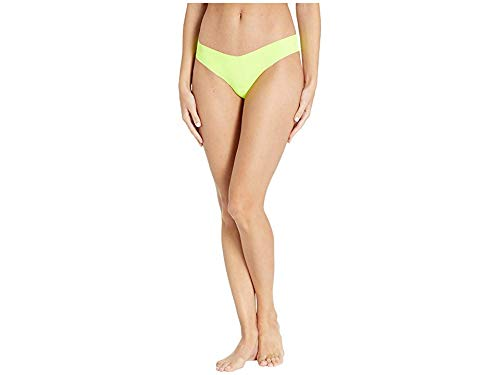 commando Women's Solid Thong CT01 Neon Yellow Medium/Large