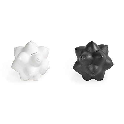 Jonathan Adler 21965 Aphrodite Salt & Pepper Set Salt and Pepper Shaker, One Size, Black and White by Jonathan Adler