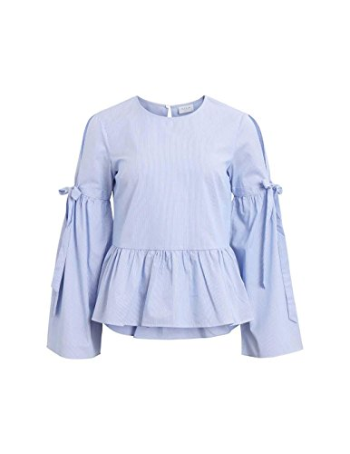 Vila Vividi Blouse L S Top Femme Bleu rAwCPrq