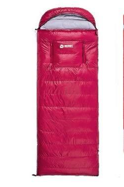 LYgMV 寝袋屋外秋と冬の成人肥厚封筒タイプマルチスタンダードマルチカラーホワイトアヒルダウン2キロ B07MYQDVLL Red  Red