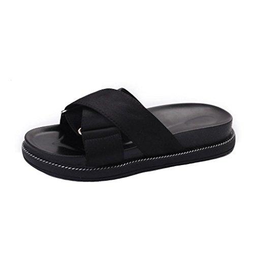 Ladies Cushioned 7 Slipper Outdoor Sandali Fit Wide Basso Pantshoes Gladiator Wedge Size 2 Piatto Women Black Beach Tacco Lolittas Strappy Platform dTnqRZd