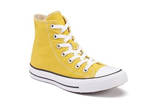 Converse Unisex Chuck Taylor All-star Casual Sneakers Alte In Stile Classico E Colori E Tomaia In Tela Resistente Limone Amaro