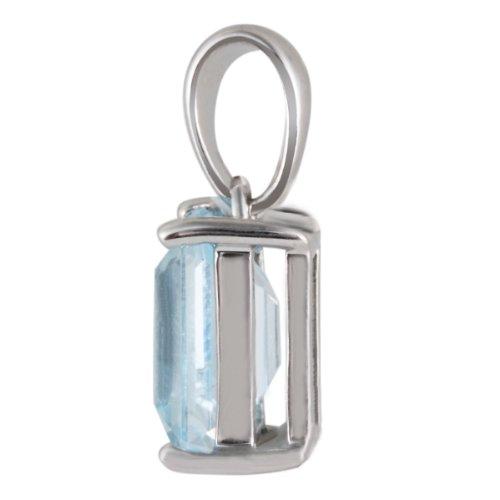 Goldmaid - Fa A5787WG - Pendentif Femme - Or blanc 375/1000 (9 carats) 1.0 gr - Topaze Bleue