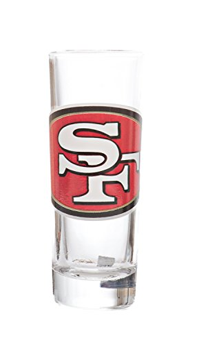 - NFL San Francisco Tall Shot (2.5oz) Clear Cordial Glass