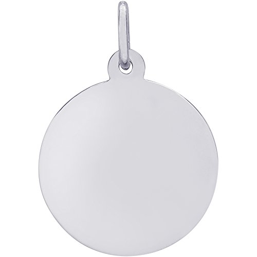 Rembrandt Charms Disc Charm, Sterling Silver by Rembrandt Charms