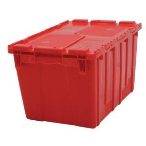[Red Storage Totes with Hinged Lids] (Hinge Tote)