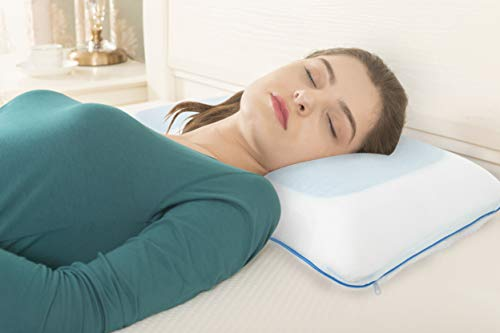 Side Sleeper Pillow - Shoulder Pillow - Cooling Pillow - Antibacterial Memory Foam Pillow - Bamboo Pillow Cover Cervical Pillow Orthopedic Pillow Supports Posture and Neck Bed Pillow Sleeping Pillow
