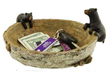 Black Bear Bowl, 9.5-inch (Decor Northwoods Cabin)