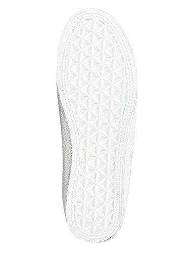 de Colmar Cordones Mujer Zapatos plateado blanco Lona con pxwqB6R