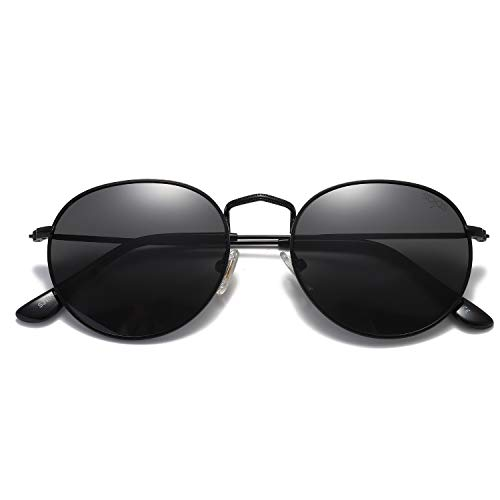 Costumes That Need Colored Contacts - SOJOS Small Round Polarized Sunglasses Mirrored