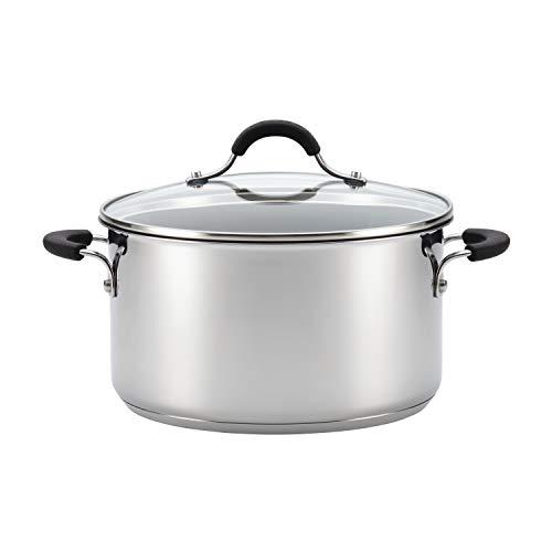 Circulon Innovatum Stainless Steel Cookware Nonstick Pots and Pans Set, 10 Piece, Silver