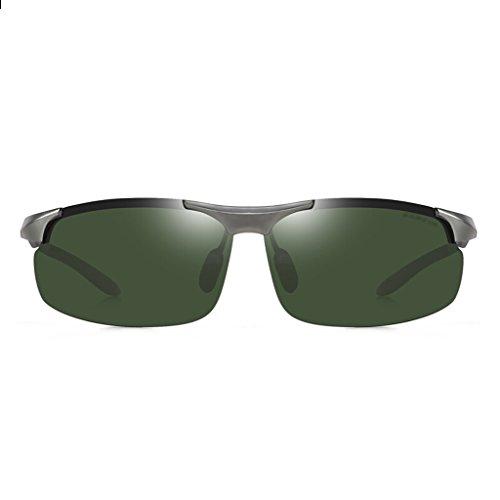 Oscuro Sol Hombre HT para de Gafas Hombre Verde y Gafas de Sol de Sol Gafas Aluminio de BEI de magnesio de Aleación polarizadas xwrSBx