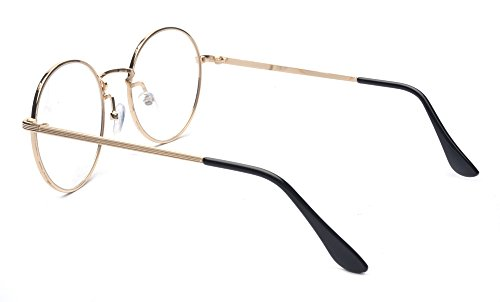 6276ef653 Outray Retro Round Metal Clear Lens Glasses 2136c2 Gold Frame ...