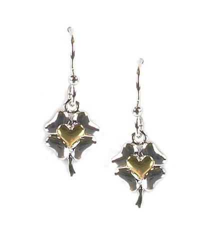 2b0e5e5d3 Amazon.com: JODY COYOTE Earrings E831 Flourish Collection Heart Silver Gold  892: Jewelry