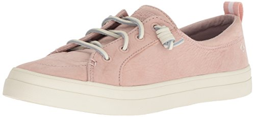 Sperry Leather Tie Sider Top (Sperry Women's Crest Vibe Washable Leather Sneaker, Rose dust, 110 M US)