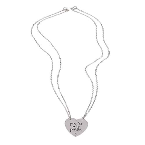 Topgee Love Necklace 100 Languages I Love You Mother's Day Gift Diamond Valentine's Day Present Memory Projection Necklace Pendant Jewelry Matching Necklace ()