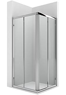 Roca AM176C2012 - Vertice ducha 2 puertas enmarcadas con dos segmentos fijos con guia inferior: Amazon.es: Bricolaje y herramientas