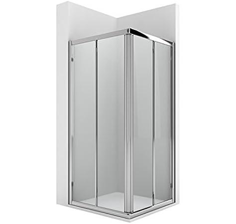 Roca AM176A9012 - Vertice ducha 2 puertas enmarcadas con dos segmentos fijos con guia inferior: Amazon.es: Bricolaje y herramientas