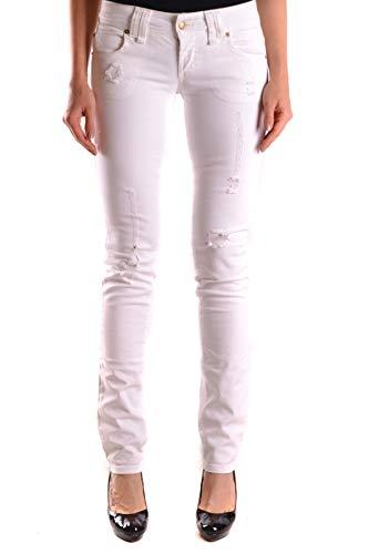 Blanco Mujer Mcbi24606 Galliano Algodon Jeans EvqW1W