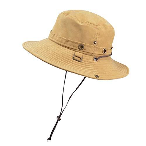 - Landscap Sun Hat for Men/Women,Summer Uv Protection Boonie Fishing Cap Hats for Safari Fishing Hiking Beach Golf Yellow