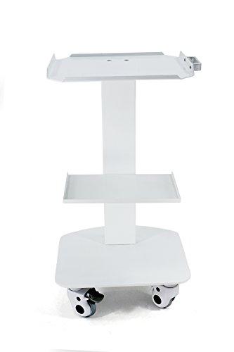 Zeta Dental Marshall 3-Shelf Metal Rolling Utility Cart White Color by Zeta