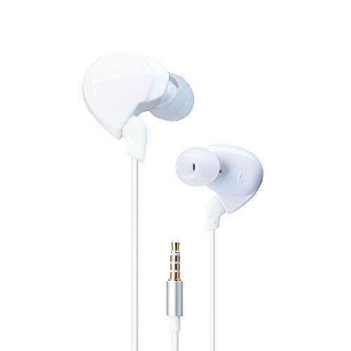 HIDIZS EP03 Dynamic In-Ear Headphones Wired Earbuds HiFi Headset with Mic and Smart Remote Control for Smart Android Cell Phone (White) by HIDIZS