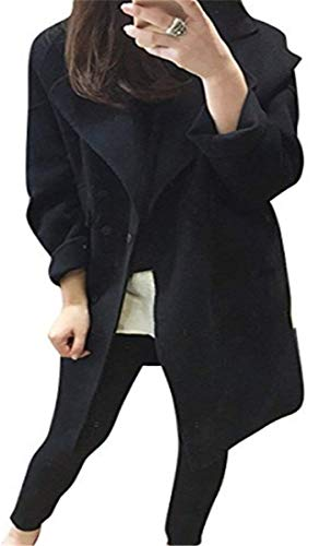 De Uni Ropa Primavera Parker Clásico Larga Abrigo Manga Exterior Otoño Vintage Elegante Trench Botones Mujer Bolsillos Moda Fourcher Con Chic Schwarz Manija Battercake Axw4FUOqA