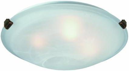Artcraft Lighting Clip Flush 2-Light Flush Mount, White