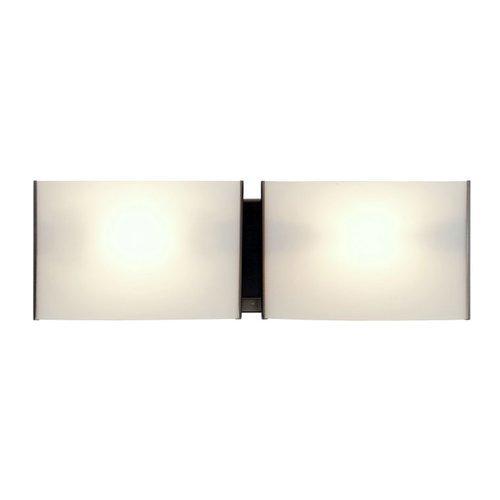 Opal Bathroom Shade - DVI Lighting DVP1757SN-OP Bathroom Vanity with Opal Glass Shades, Satin Nickel Finish by DVI