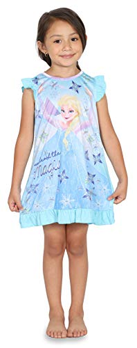 Disney Toddler Girls' Frozen Elsa Nightgown, Unleashed Magic, 4T ()
